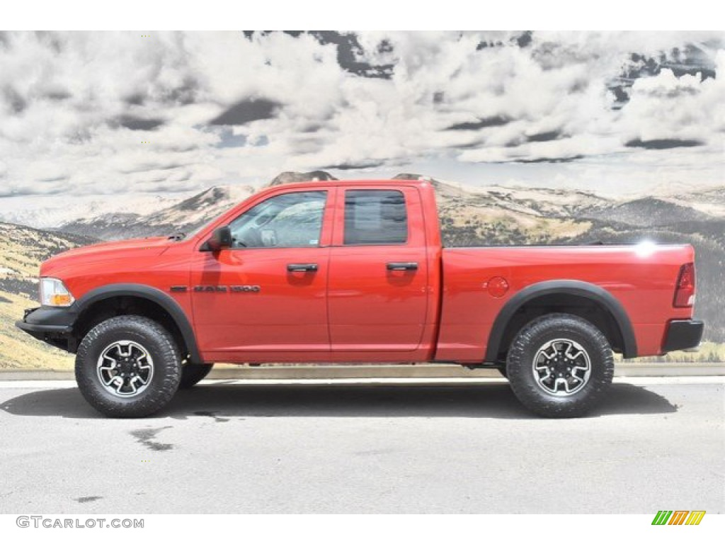 2012 Ram 1500 Express Quad Cab 4x4 - Flame Red / Dark Slate Gray/Medium Graystone photo #6