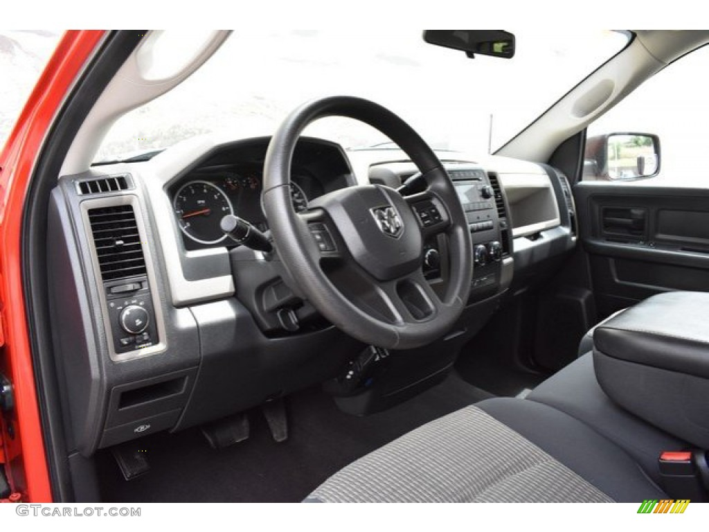 2012 Ram 1500 Express Quad Cab 4x4 - Flame Red / Dark Slate Gray/Medium Graystone photo #10