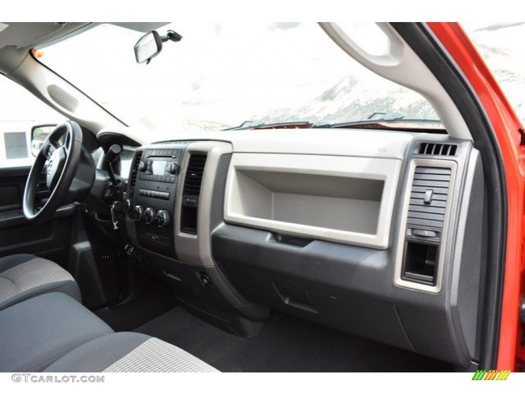 2012 Ram 1500 Express Quad Cab 4x4 - Flame Red / Dark Slate Gray/Medium Graystone photo #16