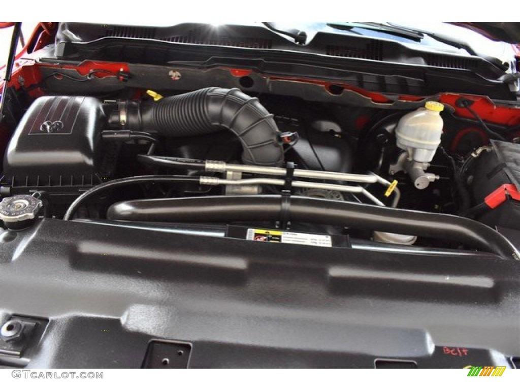 2012 Ram 1500 Express Quad Cab 4x4 - Flame Red / Dark Slate Gray/Medium Graystone photo #27