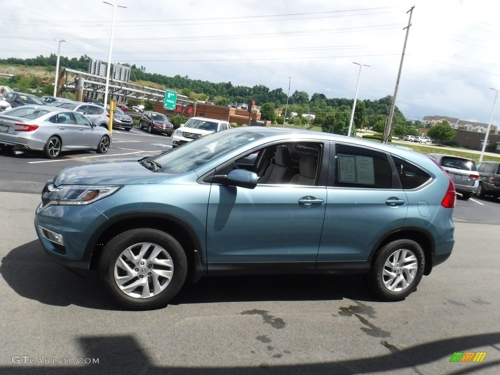 2016 CR-V EX AWD - Mountain Air Metallic / Beige photo #7