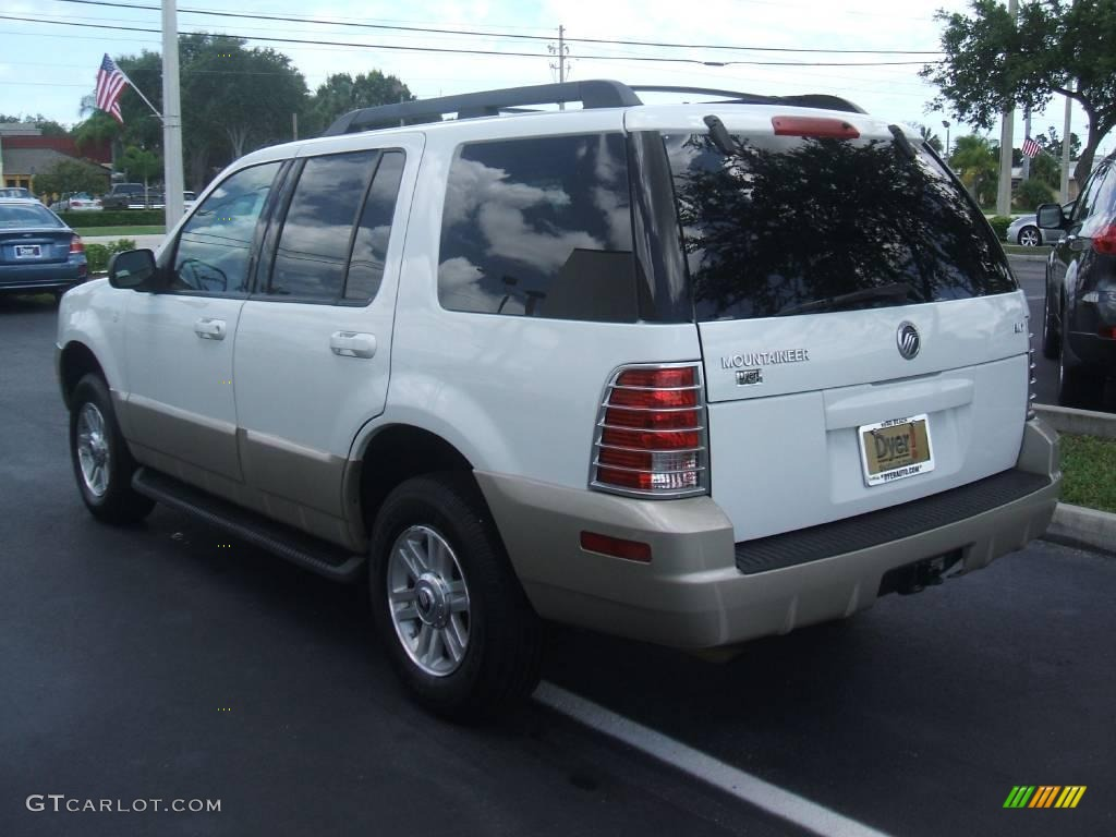2005 mountaineer v6 awd oxford white medium dark parchment photo 4