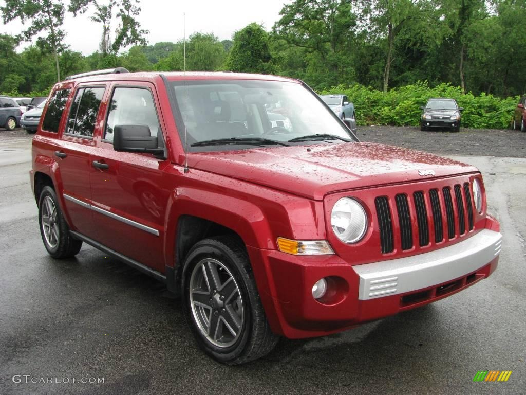2008 red crystal pearl jeep patriot limited 13373671. Black Bedroom Furniture Sets. Home Design Ideas