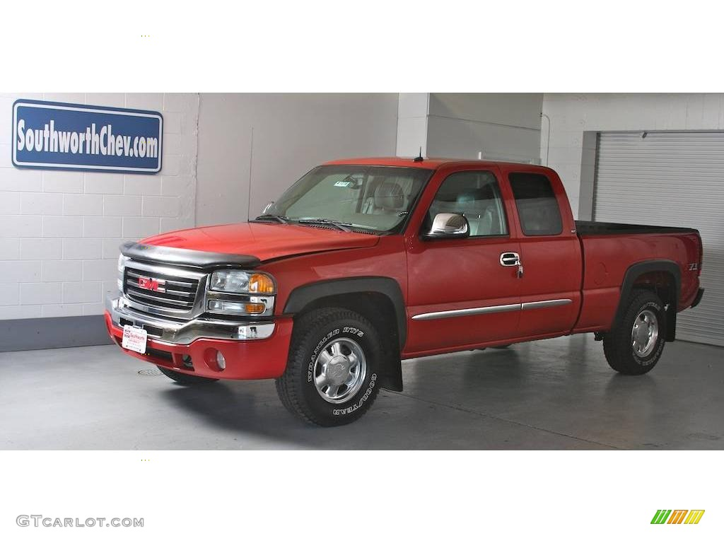 Fire red gmc sierra 1500