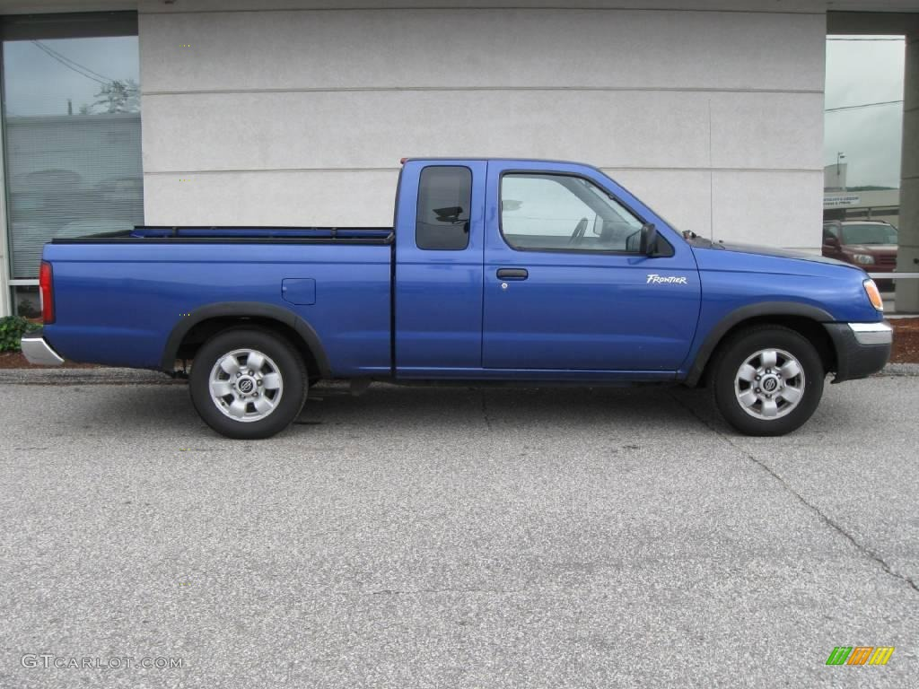 1998 frontier xe extended cab bright blue pearl gray photo 2