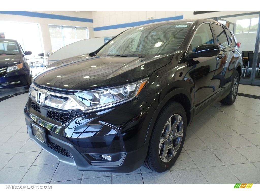 2019 CR-V EX-L - Crystal Black Pearl / Black photo #1