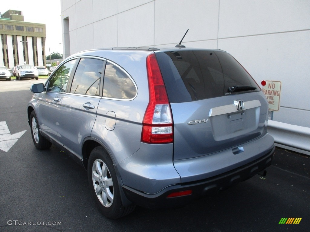 2009 CR-V EX-L 4WD - Glacier Blue Metallic / Gray photo #3