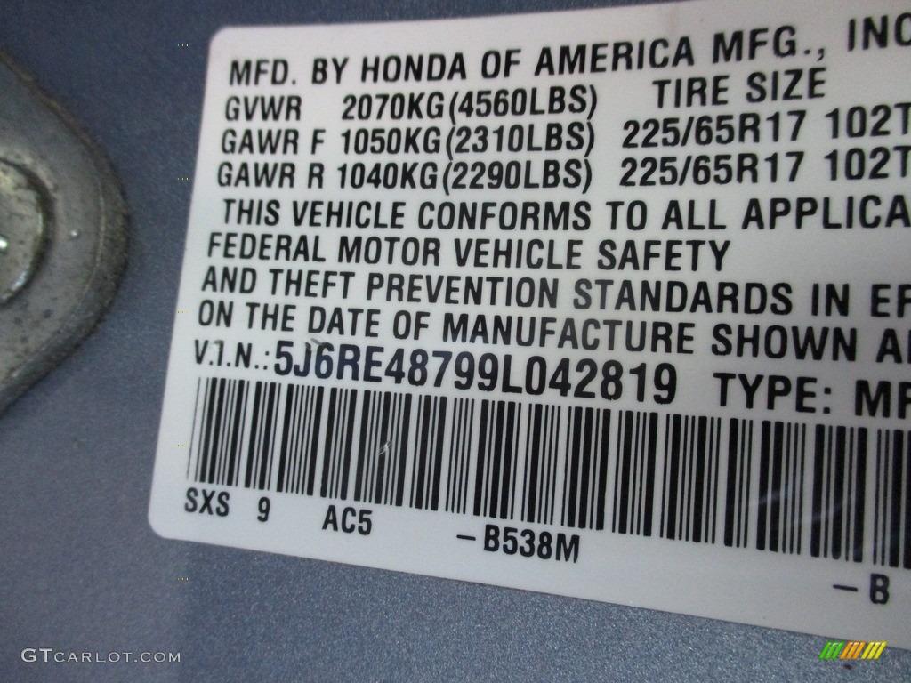 2009 CR-V EX-L 4WD - Glacier Blue Metallic / Gray photo #19