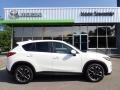 Crystal White Pearl Mica 2016 Mazda CX-5 Grand Touring AWD