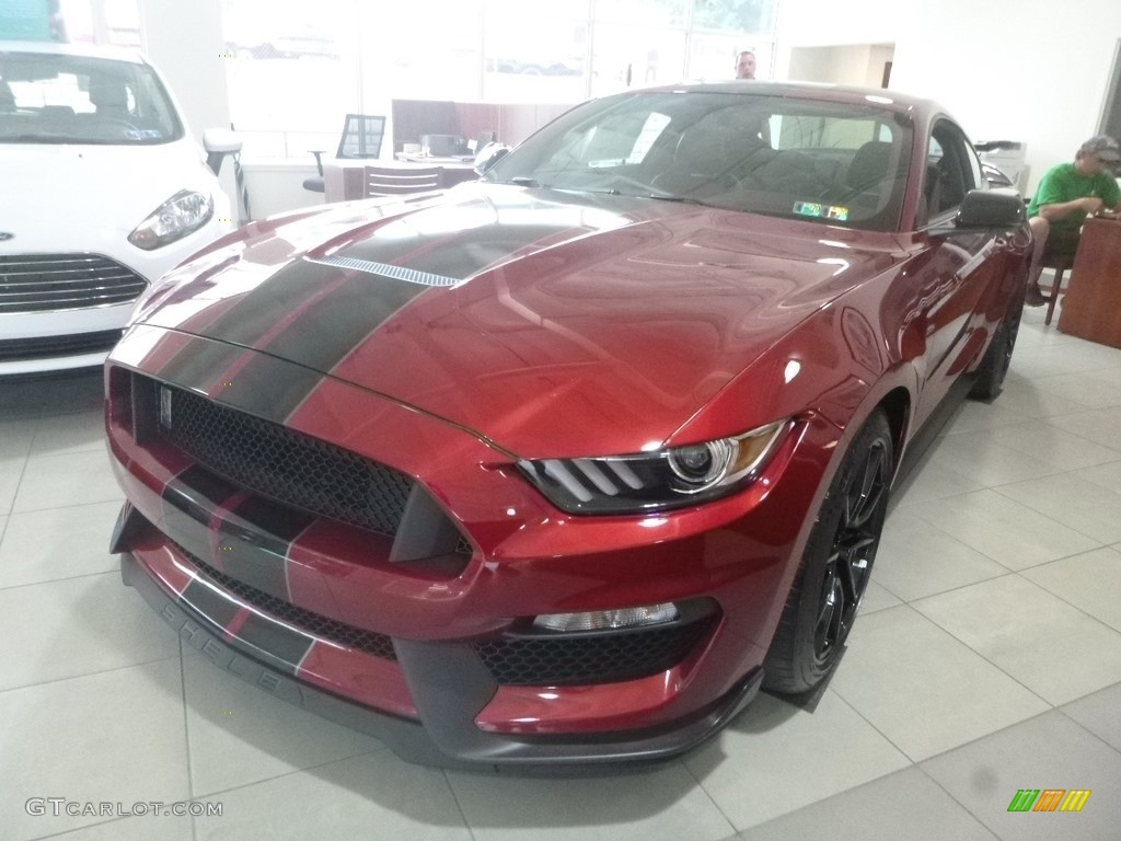 2019 Mustang Shelby GT350 - Ruby Red / GT350 Ebony Leather/Miko Suede photo #2