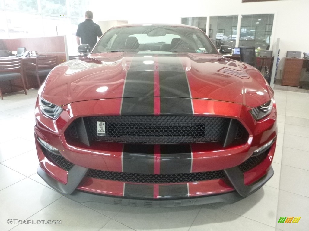 2019 Mustang Shelby GT350 - Ruby Red / GT350 Ebony Leather/Miko Suede photo #3