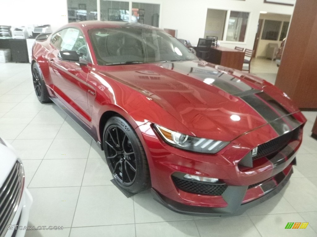 2019 Mustang Shelby GT350 - Ruby Red / GT350 Ebony Leather/Miko Suede photo #4