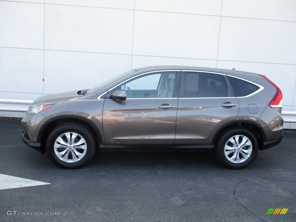 2014 CR-V EX AWD - Urban Titanium Metallic / Beige photo #2