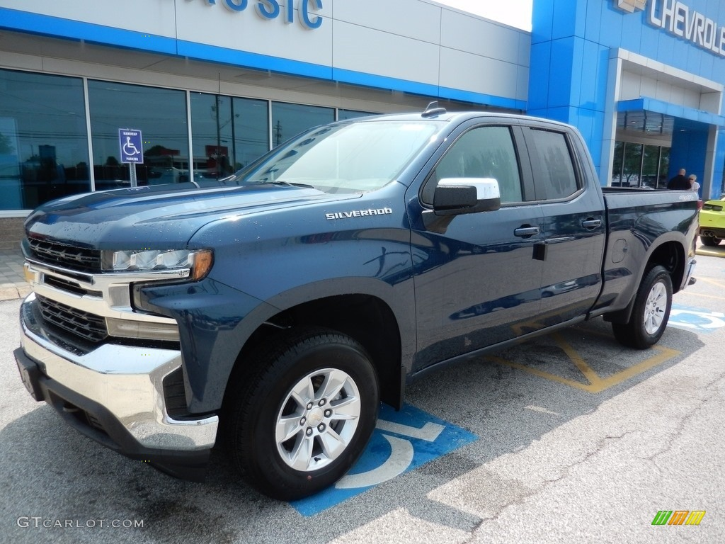 2019 Silverado 1500 LT Double Cab 4WD - Northsky Blue Metallic / Dark Ash/Jet Black photo #1