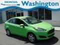 Green Envy 2014 Ford Fiesta SE Sedan