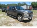 2005 Dark Shadow Grey Metallic Ford F250 Super Duty Lariat Crew Cab  photo #2