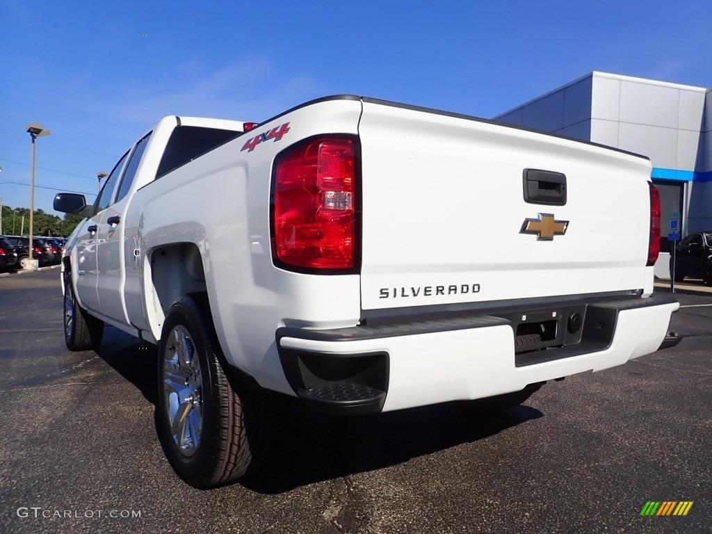 2017 Silverado 1500 Custom Double Cab 4x4 - Summit White / Dark Ash/Jet Black photo #5