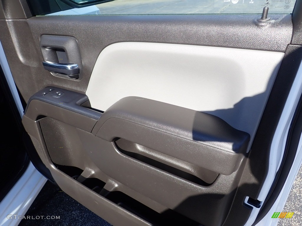 2017 Silverado 1500 Custom Double Cab 4x4 - Summit White / Dark Ash/Jet Black photo #16