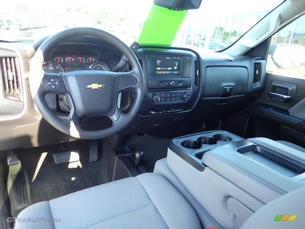 2017 Silverado 1500 Custom Double Cab 4x4 - Summit White / Dark Ash/Jet Black photo #23