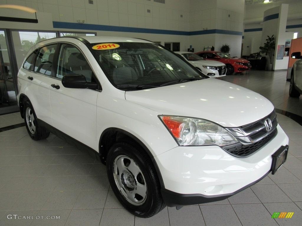 2011 CR-V LX 4WD - Taffeta White / Ivory photo #3