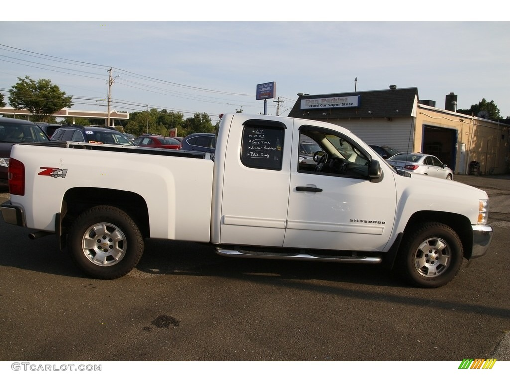 2012 Silverado 1500 LT Extended Cab 4x4 - Summit White / Ebony photo #4