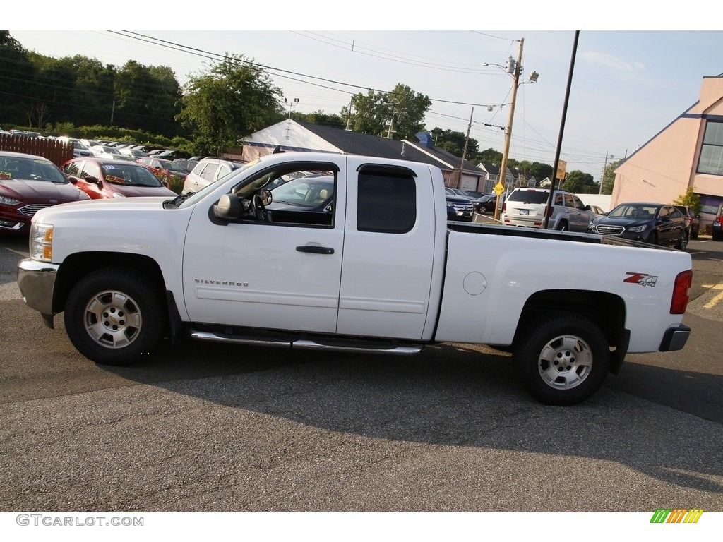 2012 Silverado 1500 LT Extended Cab 4x4 - Summit White / Ebony photo #8