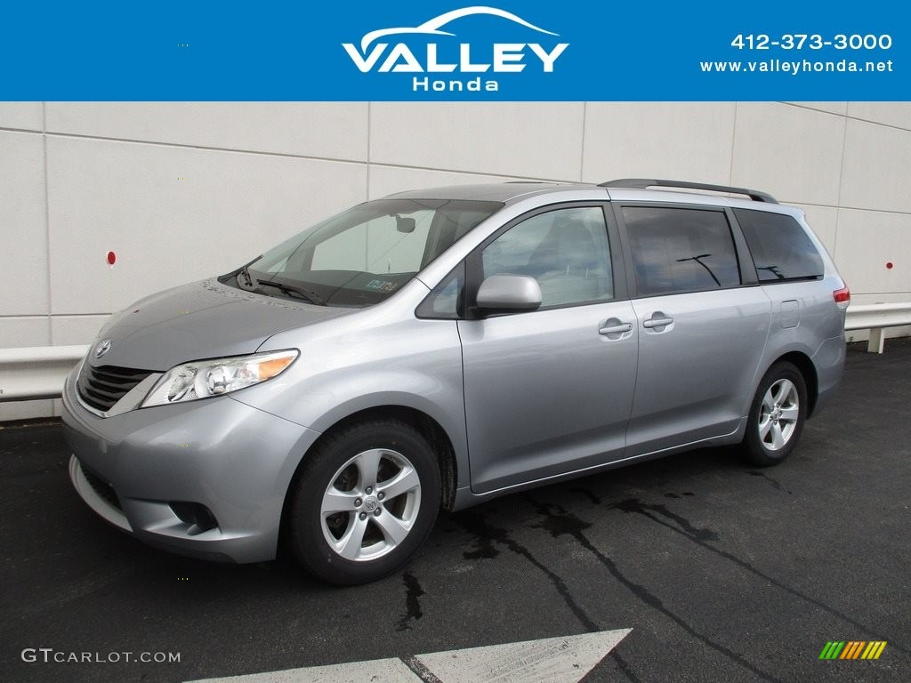 2011 Sienna LE - Silver Sky Metallic / Light Gray photo #1