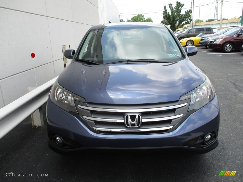 2012 CR-V EX 4WD - Twilight Blue Metallic / Black photo #8