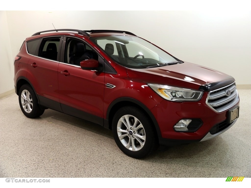 2018 Escape SEL 4WD - Ruby Red / Charcoal Black photo #1