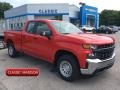 2019 Red Hot Chevrolet Silverado 1500 WT Double Cab #134359981