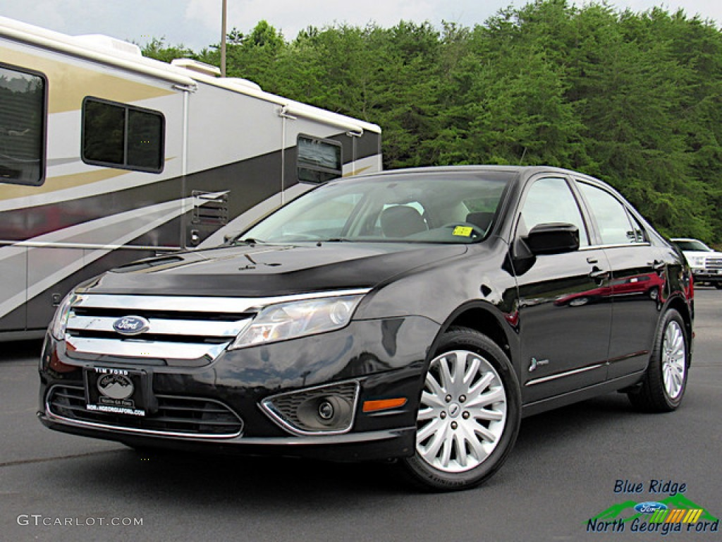 2011 Fusion Hybrid - Tuxedo Black Metallic / Charcoal Black photo #1