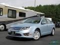 2011 Light Ice Blue Metallic Ford Fusion Hybrid #134378959