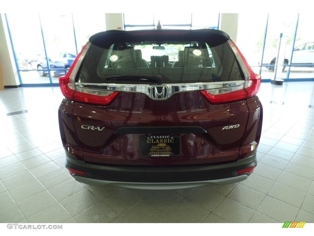 2019 CR-V LX AWD - Basque Red Pearl II / Gray photo #4
