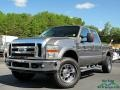 2008 Dark Shadow Grey Metallic Ford F250 Super Duty Lariat Crew Cab 4x4 #134420047