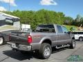 2008 Dark Shadow Grey Metallic Ford F250 Super Duty Lariat Crew Cab 4x4  photo #5