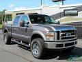 2008 Dark Shadow Grey Metallic Ford F250 Super Duty Lariat Crew Cab 4x4  photo #7