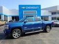 Deep Ocean Blue Metallic 2017 Chevrolet Silverado 1500 High Country Crew Cab 4x4