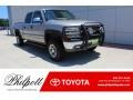 2002 Light Pewter Metallic Chevrolet Silverado 1500 LT Crew Cab 4x4 #134442575