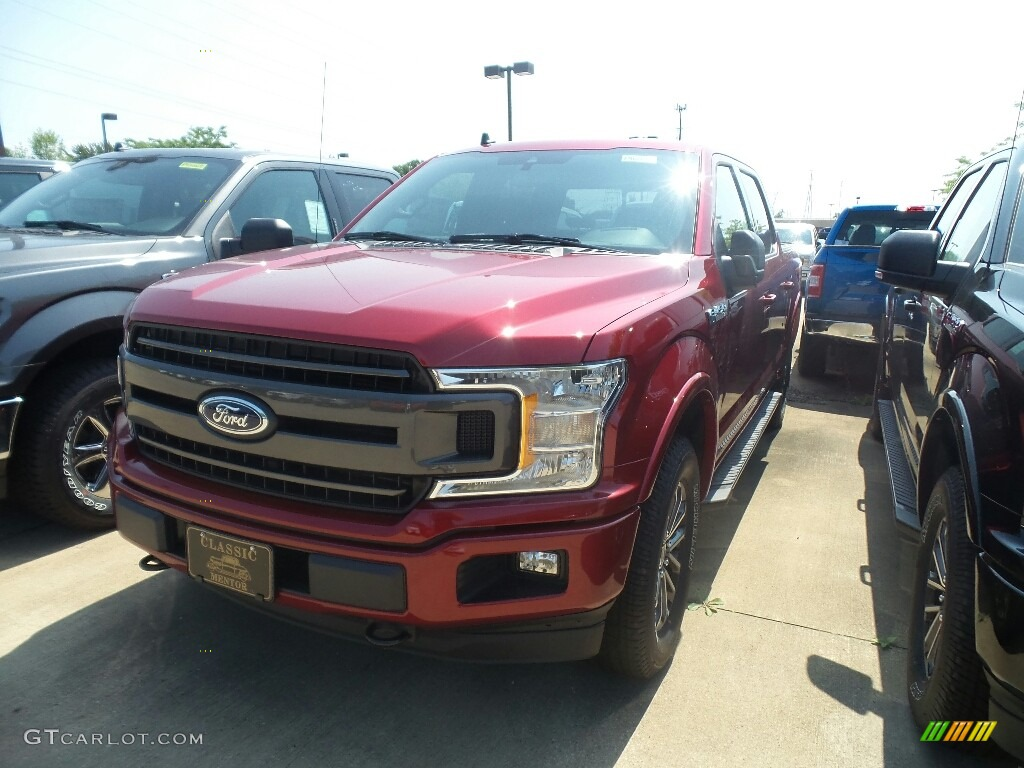 2019 F150 XLT SuperCrew 4x4 - Ruby Red / Black photo #1
