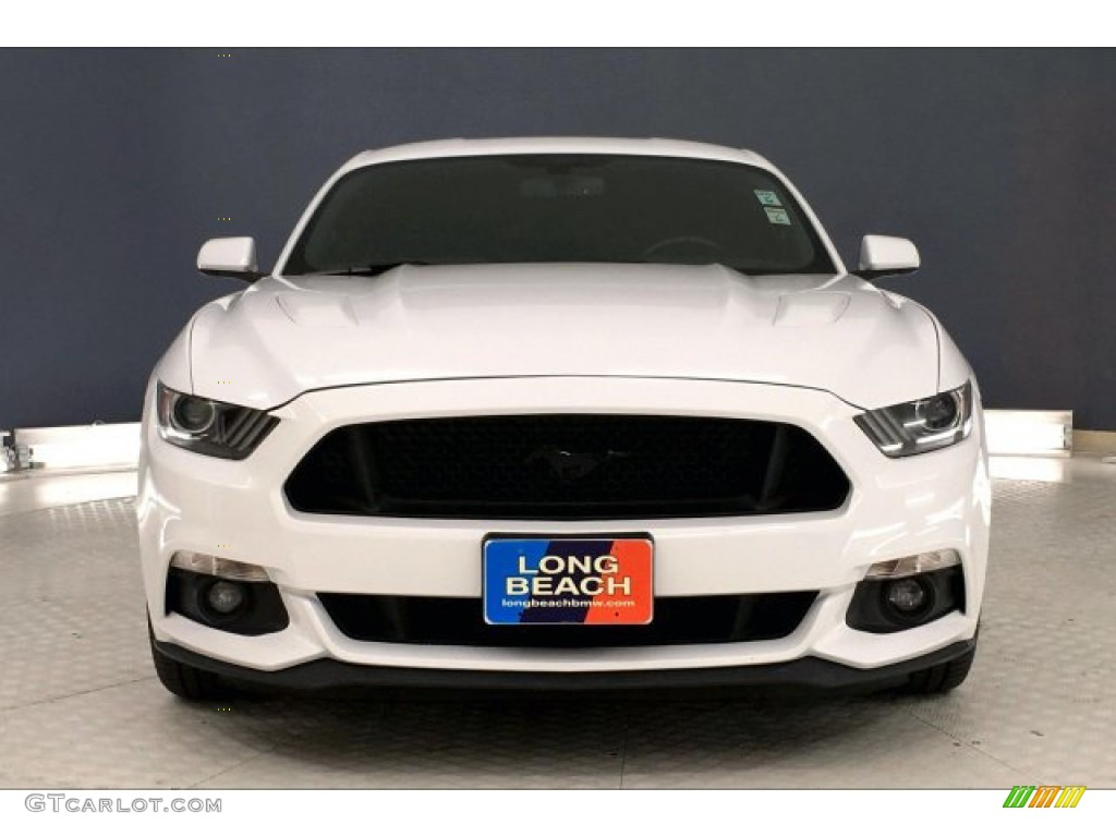 2016 Mustang GT Premium Coupe - Oxford White / California Special Ebony Black/Miko Suede photo #2