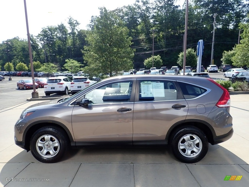 2013 CR-V LX AWD - Kona Coffee Metallic / Black photo #6