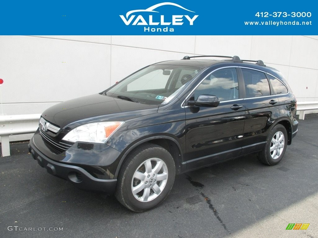 2009 CR-V EX-L 4WD - Crystal Black Pearl / Black photo #1