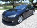 Blue Metallic 2013 Tesla Model S P85 Performance