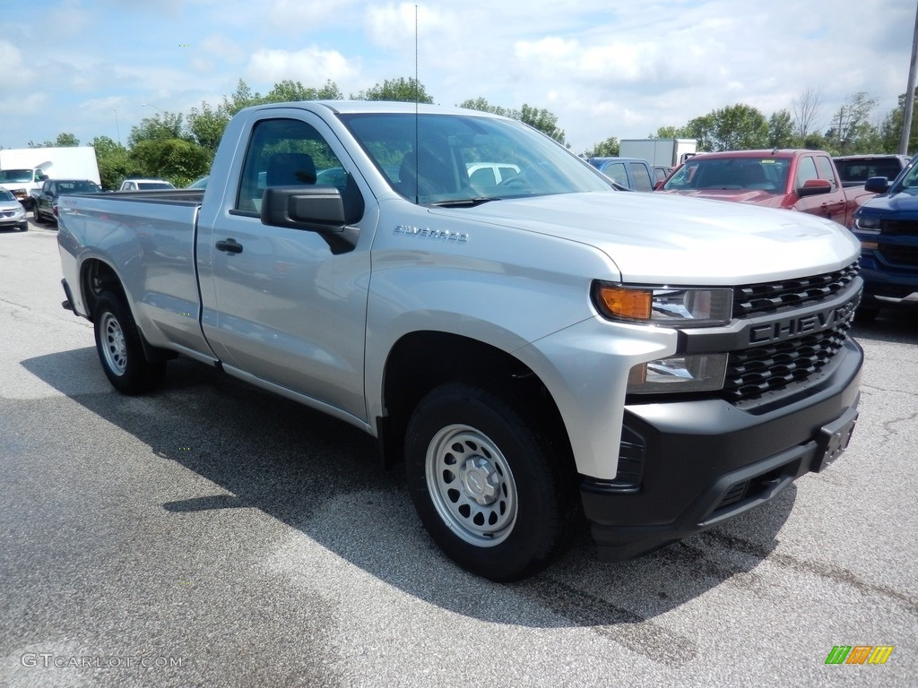 2019 Silverado 1500 WT Regular Cab 4WD - Silver Ice Metallic / Dark Ash/Jet Black photo #3