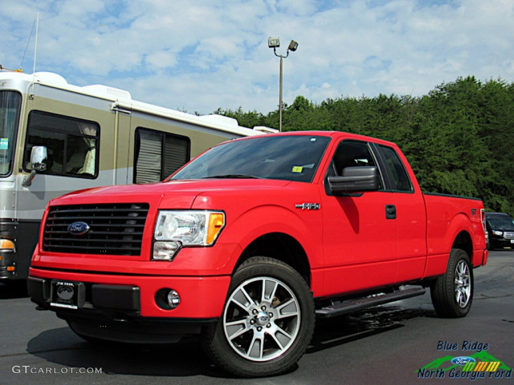 2014 F150 STX SuperCab 4x4 - Race Red / Black photo #1