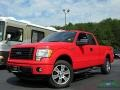 2014 Race Red Ford F150 STX SuperCab 4x4  photo #1