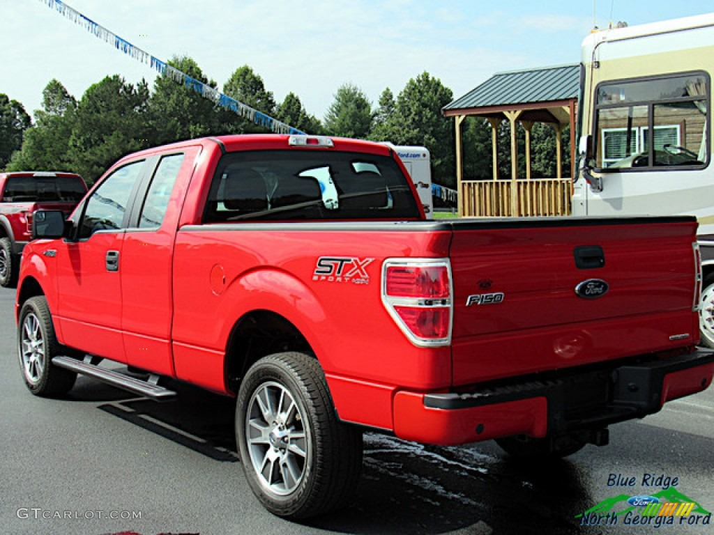 2014 F150 STX SuperCab 4x4 - Race Red / Black photo #3