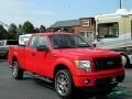 2014 Race Red Ford F150 STX SuperCab 4x4  photo #7