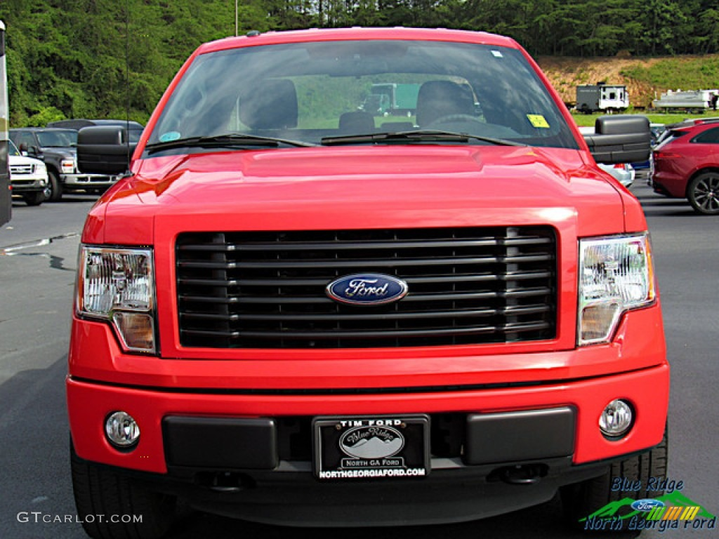 2014 F150 STX SuperCab 4x4 - Race Red / Black photo #8