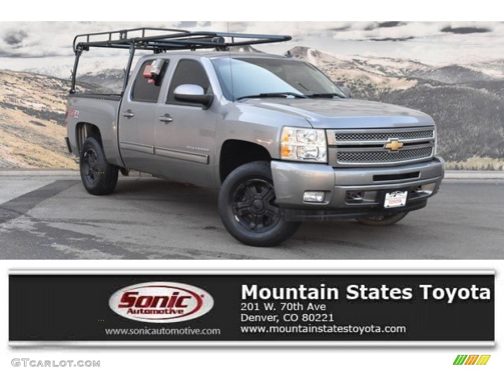2013 Silverado 1500 LT Crew Cab 4x4 - Graystone Metallic / Ebony photo #1